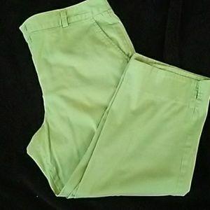 Bright green Capri Larry levine
